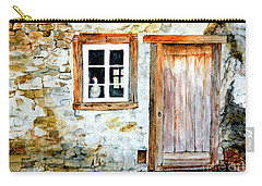 Old Farm House Carry-all Pouch by Sher Nasser