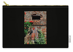 Carry-all Pouch featuring the photograph Old Farm Window by Frank Stallone