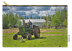 Old Farmer Old Tractor Old Dog Carry-all Pouch