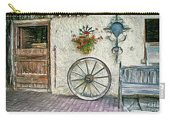 Carry-all Pouch featuring the photograph Old Farmhouse by Jutta Maria Pusl