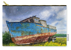 Old Fishing Boat Carry-all Pouch by Ken Morris
