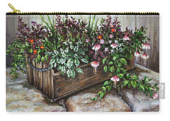 Carry-all Pouch featuring the painting Old Flower Box by Kim Lockman