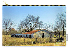 Old Forgotten Barn Near Paris Texas Carry-all Pouch by Janette Boyd