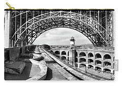 Old Fort Point Lighthouse Under The Golden Gate In Bw Carry-all Pouch