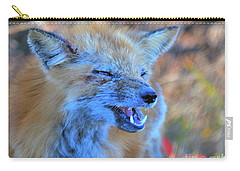 Carry-all Pouch featuring the photograph Old Fox by Debbie Stahre