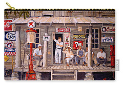Carry-all Pouch featuring the painting Old Friends by Alan Lakin