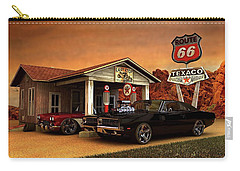 Old Gas Station American Muscle Carry-all Pouch by Louis Ferreira