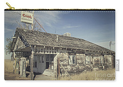 Carry-all Pouch featuring the photograph Old Gas Station by Robert Bales