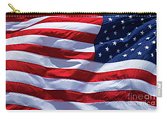 Carry-all Pouch featuring the photograph Stitches Old Glory American Flag Art by Reid Callaway