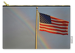 Old Glory And Rainbow Carry-all Pouch