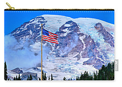 Old Glory At Mt. Rainier Carry-all Pouch