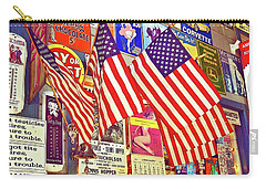 Carry-all Pouch featuring the photograph Old Glory by Joan Reese