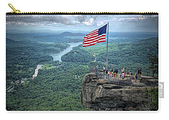 Old Glory On The Rock Carry-all Pouch