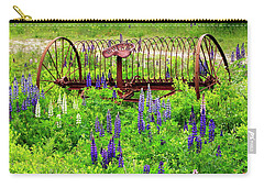 Old Hay Rake And Lupines Carry-all Pouch
