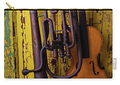 Old Horn And Violin Carry-all Pouch by Garry Gay