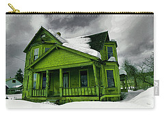 Carry-all Pouch featuring the photograph Old House In Roslyn Washington by Jeff Swan