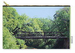 Carry-all Pouch featuring the photograph Old Iron Bridge Over Caddo Creek by Sheila Brown