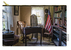 Carry-all Pouch featuring the photograph Old Library by Ann Bridges