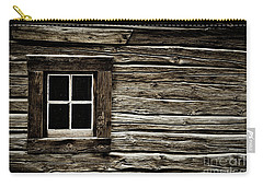 Carry-all Pouch featuring the photograph Old Log Cabin by Brad Allen Fine Art