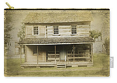 Carry-all Pouch featuring the photograph Old Log Cabin by Joan Reese