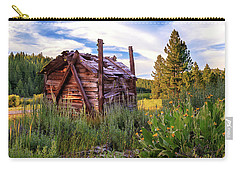 Old Lumber Mill Cabin Carry-all Pouch by James Eddy