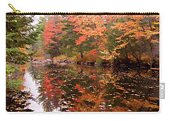 Carry-all Pouch featuring the photograph Old Main Road Stream by Jeff Folger