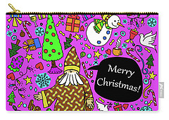 Old Man In The Peanut Merry Christmas Carry-all Pouch