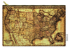 Old Map United States Carry-all Pouch