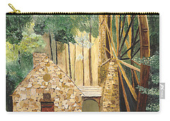 Carry-all Pouch featuring the painting Old Mill At Berry College by Rodney Campbell