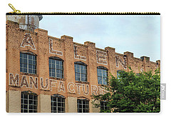 Carry-all Pouch featuring the photograph Old Mill Building In Buford by Doug Camara