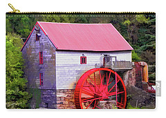 Old Mill Of Guilford Painted Square Carry-all Pouch