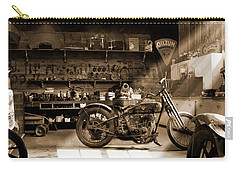 Old Motorcycle Shop Carry-all Pouch