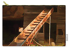 Carry-all Pouch featuring the photograph Old North Carolina Barn And Rusty Equipment   by Wilma Birdwell