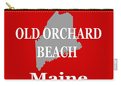 Carry-all Pouch featuring the photograph Old Orchard Beach Maine State City And Town Pride  by Keith Webber Jr