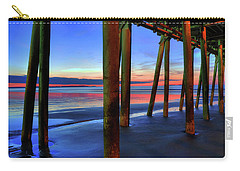 Carry-all Pouch featuring the photograph Old Orchard Beach Pier -maine Coastal Art by Joann Vitali