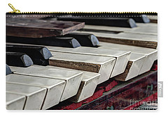 Carry-all Pouch featuring the photograph Old Organ Keys by Michal Boubin