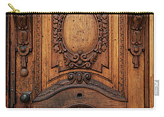 Old Ornamented Wooden Doors Carry-all Pouch by Jaroslaw Blaminsky