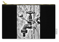 Old Outdoor Tap - Black And White Carry-all Pouch