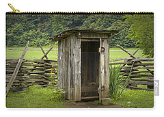 Old Outhouse On A Farm In The Smokey Mountains Carry-all Pouch