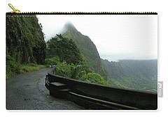 Carry-all Pouch featuring the photograph Old Pali Road, Oahu, Hawaii by Mark Czerniec