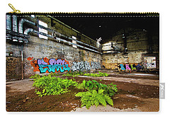 Carry-all Pouch featuring the photograph Old Peters Factory 666 by Kevin Chippindall
