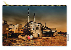 Carry-all Pouch featuring the photograph Old Peters Factory 668 by Kevin Chippindall
