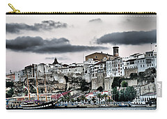 Old Port Mahon And Italian Sail Training Vessel Palinuro Hdr Carry-all Pouch by Pedro Cardona