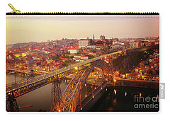 old Porto at  Pink Sunset, Portugal Carry-all Pouch