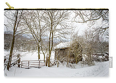 Old Post Office In Snow Carry-all Pouch