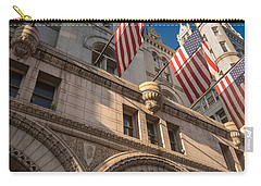 Old Post Office Washington D C Carry-all Pouch by Steve Gadomski