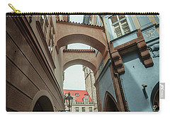 Carry-all Pouch featuring the photograph Old Prague Architecture 1 by Jenny Rainbow