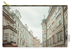 Carry-all Pouch featuring the photograph Old Prague Buildings. Staromestska Square by Jenny Rainbow