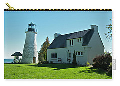 Old Presque Isle Lighthouse_9480 Carry-all Pouch by Michael Peychich