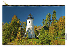 Old Presque Isle Lighthouse_9488 Carry-all Pouch by Michael Peychich